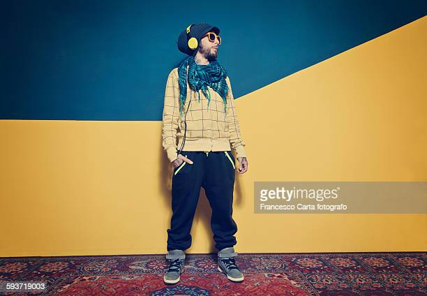 portraits of young man - rap stock pictures, royalty-free photos & images