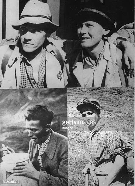 Portraits ofteh four climbers who died on the Eiger Nordwand Edi Rainer and Willy Angerer Toni Kurz and Andreas Hinterstoisser 1936 Photograph