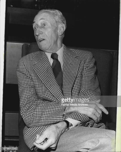 Portraits or Former Australian Mr Harry Bridges Leader of the US International Longehoremens Union at Kings Gross September 30 1976