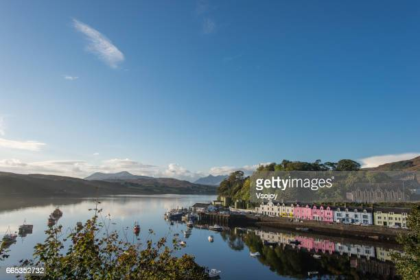 Portree Harbour at a sunny day, Isle of Skye, Scotland