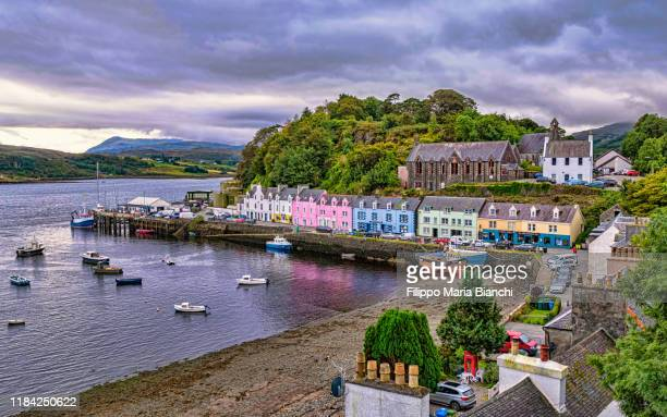 portree - village stock pictures, royalty-free photos & images