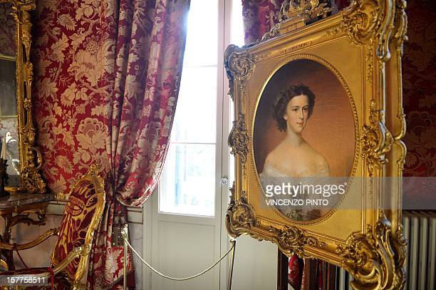 A portriat is displayed in the audience room of the Imperial apartments of the Royal Palace on December 3 2012 at the Correr museum in VeniceThe...