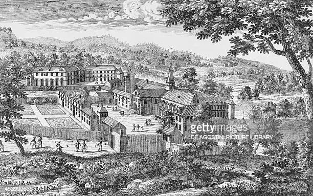 PortRoyaldesChamps Abbey engraving France 18th century Paris Bibliothèque Nationale De France
