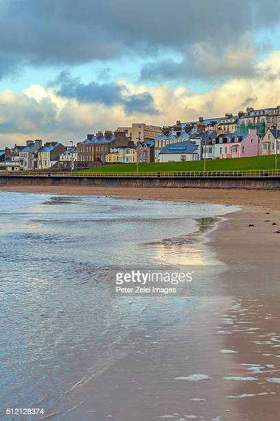 portrush, a small seaside resort town in county antrim, northern ireland. - portrush stock pictures, royalty-free photos & images