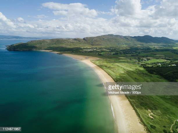 portsalon beach donegal - county donegal stock photos and pictures