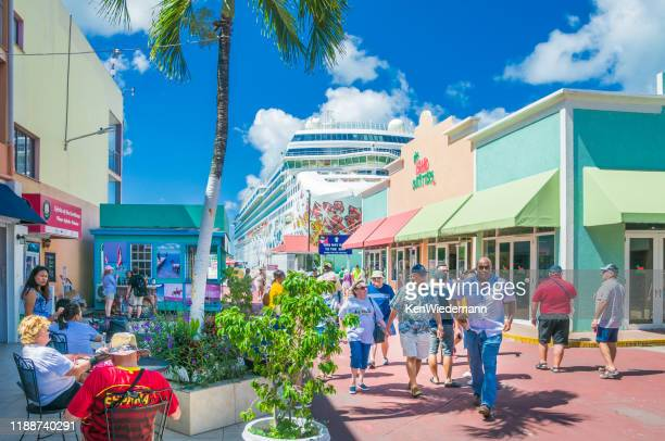 portside shopping - antigua & barbuda stock pictures, royalty-free photos & images