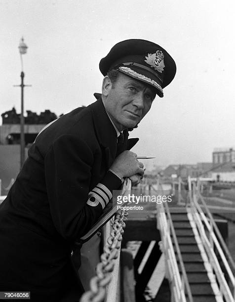 1954 Portsmouth England A picture of British actor John Mills on the set of the film Above us the waves