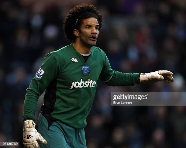Portsmouth goalkeeper David James looks on during the Barclays Premier League match between Burnley and Portsmouth at Turf Moor on February 27, 2010...