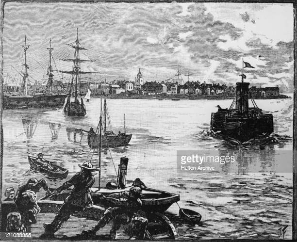 Portsmouth Harbour in Hampshire circa 1880