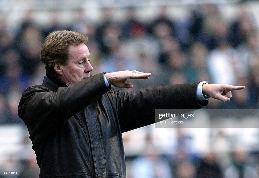 Portsmouth manager Harry Redknapp looks on during the Barclays Premiership match between Newcastle United and Portsmouth at St James' Park on February 4, 2006 in Newcastle, England.