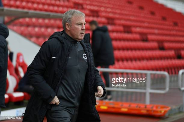 Portsmouth Manager Kenny Jackett during the Sky Bet League 1 match between Sunderland and Portsmouth at the Stadium Of Light Sunderland on Saturday...