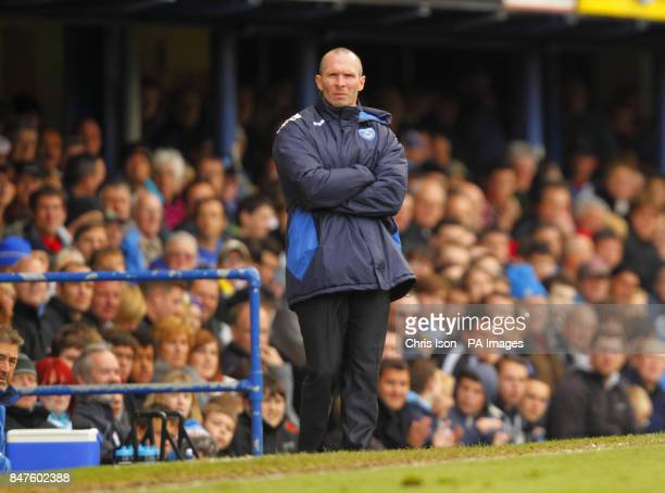 Portsmouth Manager Michael Appleton during the npower Championship match at Fratton Park Portsmouth