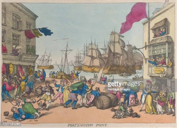 Portsmouth Point 1814 Artist Thomas Rowlandson