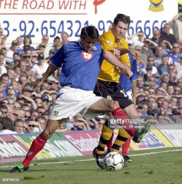 Portsmouth's Dejan Stefanovic is tackled by Blackburn's Brett Emerton during the FA Barclaycard Premiership match at Fratton Park, Portsmouth. THIS...