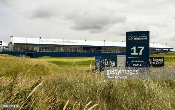 Portstewart United Kingdom 3 July 2017 A general view of the 17th tee box ahead of the Dubai Duty Free Irish Open Golf Championship at Portstewart...