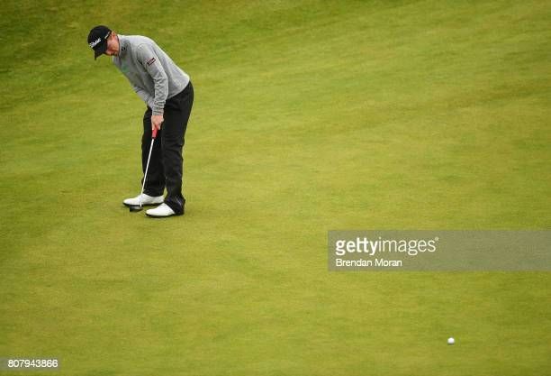 Portstewart United Kingdom 4 July 2017 Gavin Moynihan of Ireland during a practice round ahead of the Dubai Duty Free Irish Open Golf Championship at...