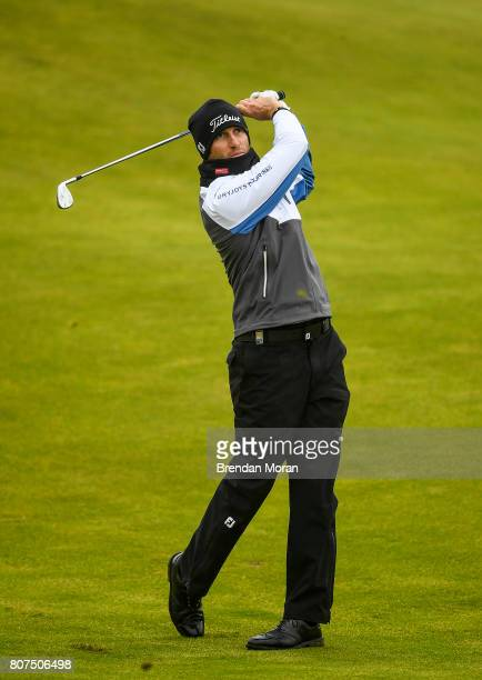 Portstewart United Kingdom 4 July 2017 Gregory Bourdy of France on the 10th fairway during a practice round ahead of the Dubai Duty Free Irish Open...