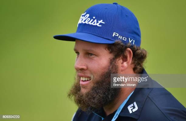 Portstewart United Kingdom 5 July 2017 Andrew Johnston of England during the ProAm ahead of the Dubai Duty Free Irish Open Golf Championship at...