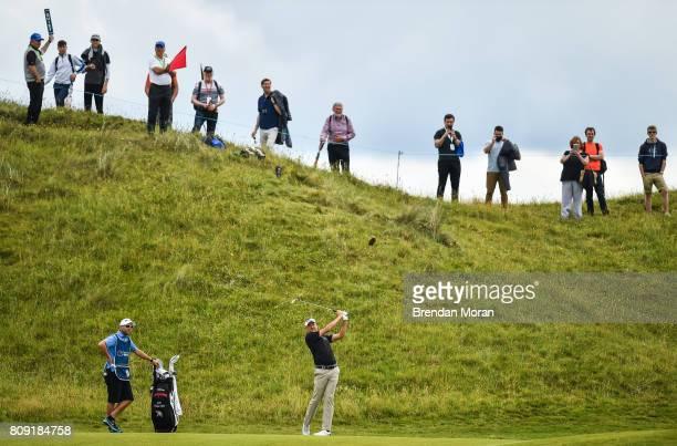 Portstewart United Kingdom 5 July 2017 Ian Poulter of England during the ProAm ahead of the Dubai Duty Free Irish Open Golf Championship at...