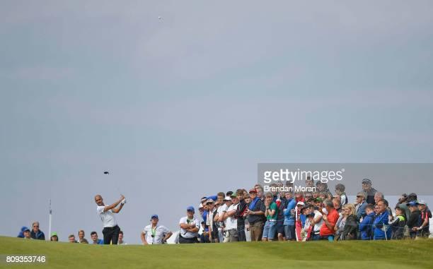 Portstewart United Kingdom 5 July 2017 Manchester City manager Pep Guardiola during the ProAm ahead of the Dubai Duty Free Irish Open Golf...
