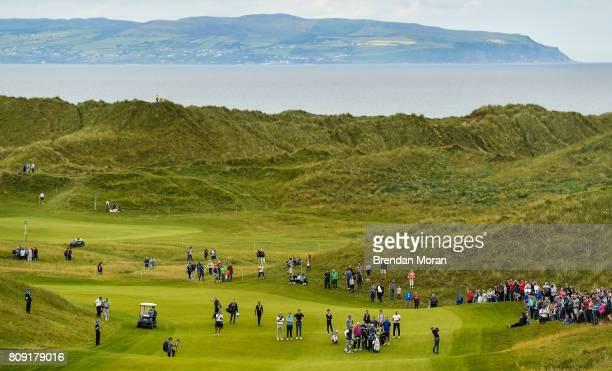 Portstewart United Kingdom 5 July 2017 Rory McIlroy of Northern Ireland on the 7th fairawy during the ProAm ahead of the Dubai Duty Free Irish Open...