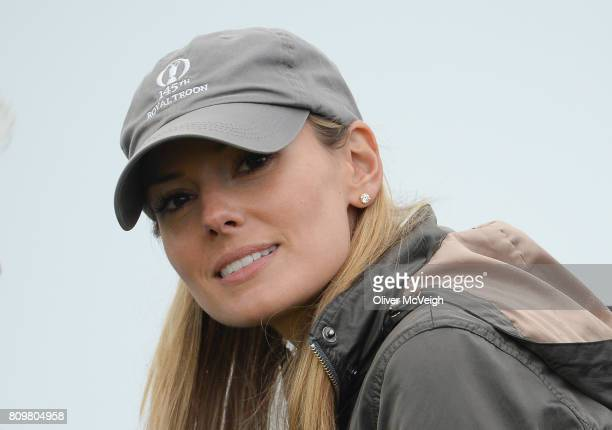 Portstewart United Kingdom 6 July 2017 Erica Stoll wife of Rory McIlroy during Day 1 of the Dubai Duty Free Irish Open Golf Championship at...