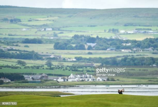 Portstewart United Kingdom 6 July 2017 Matthew Southgate of England plays his second shot on the 13th during Day 1 of the Dubai Duty Free Irish Open...