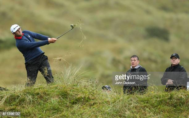Portstewart United Kingdom 9 July 2017 Jon Rahm of Spain on the 16th during Day 4 of the Dubai Duty Free Irish Open Golf Championship at Portstewart...