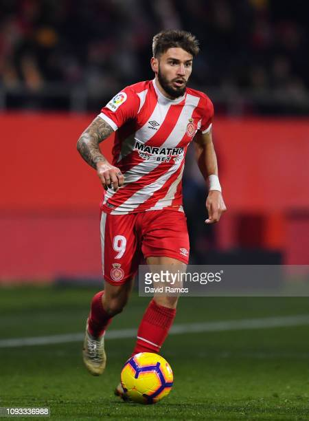 Portu of Girona FC runs with the ball during the La Liga match between Girona FC and Deportivo Alaves at Montilivi Stadium on January 12 2019 in...