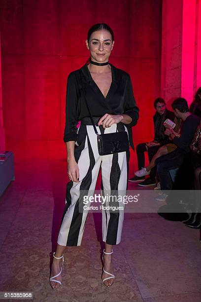 Portugal Actress Vanessa Martins during the Lisboa Fashion Week Autumn/Winter 2016/2017 in Lisbon on March 12, 2016 in Lisbon, Portugal.