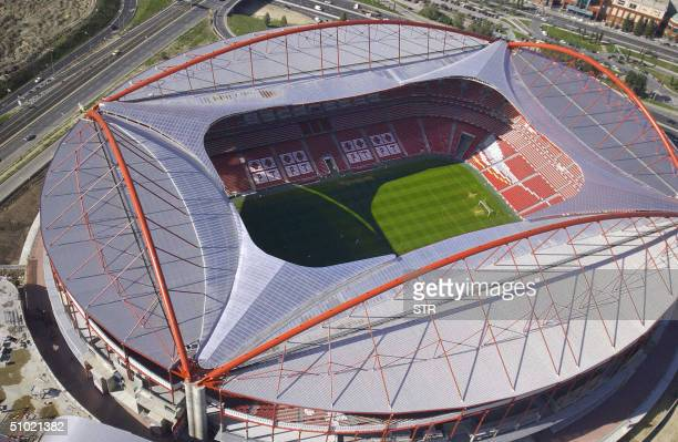 Aerial view taken in November 2003 of the Estadio da Luz in Lisbon the stadium of the Benfica football club The 65000 seats stadium the largest for...