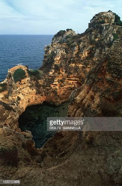 Portugal Algarve cliff in coast between Ponta da Piedade and Lagos