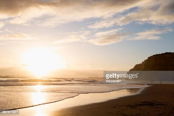 Portugal, Algarve, Lagos, beach at sunset