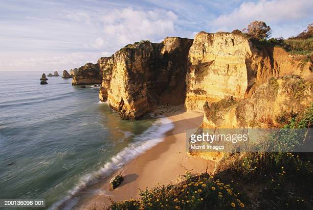 Portugal, Algarve, Lagos, cliffs and Praia de Ana beach