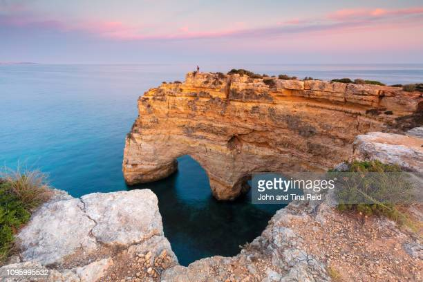 portugal, algarve - marinha beach - faro stock pictures, royalty-free photos & images