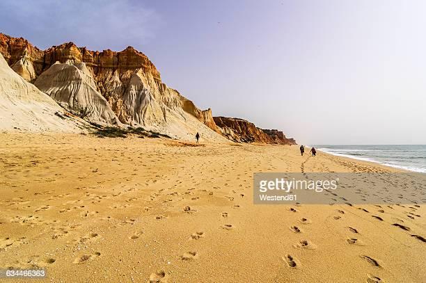 portugal, algarve, vilamoura, cliff coast, beach praia da falesia - albufeira stock pictures, royalty-free photos & images