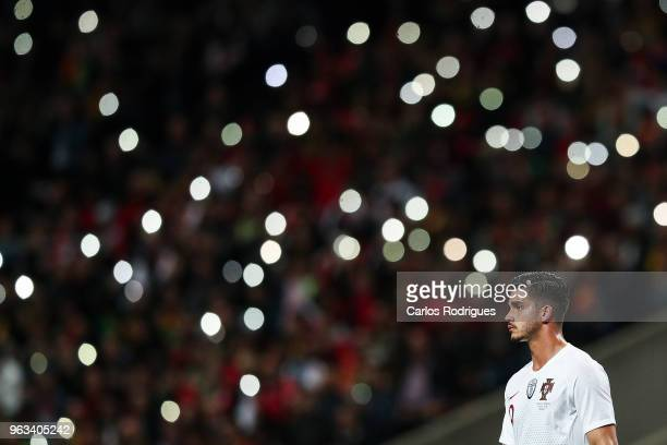 Portugal and AC Milan forward Andre Silva during the Portugal vs Tunisia International Friendly match on May 28 2018 in Braga Portugal