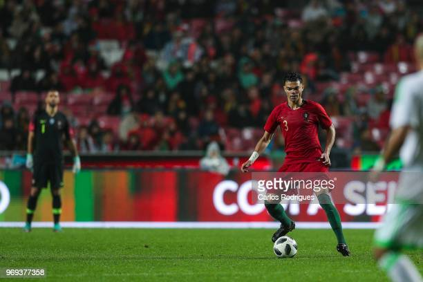 Portugal and Besiktas defender Pepe during Portugal vs Algeria International Friendly match at Estadio da Luz on June 7 2018 in Lisbon Portugal