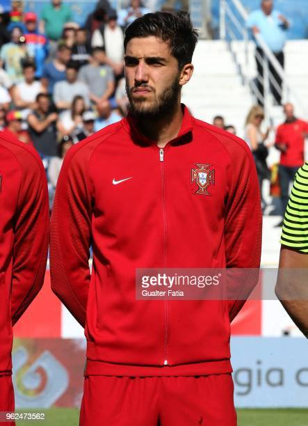 Portugal and CD Tondela defender Jorge Fernandes before the start of the U21 International Friendly match between Portugal and Italy at Estadio...