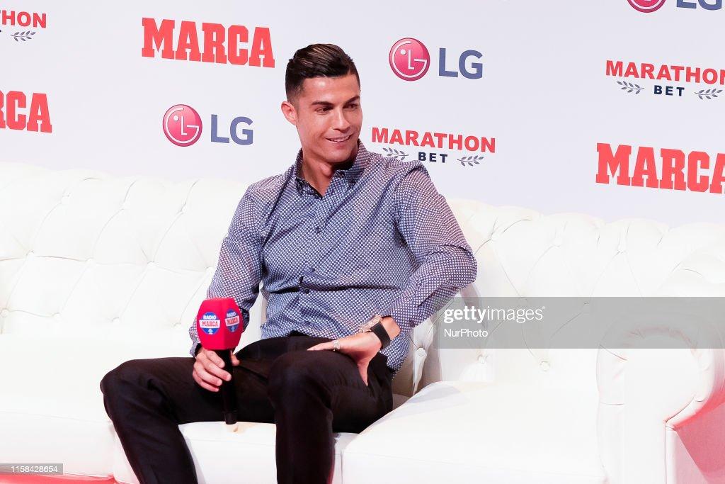 Cristiano Ronaldo Receives 'Marca Leyenda' Award : News Photo