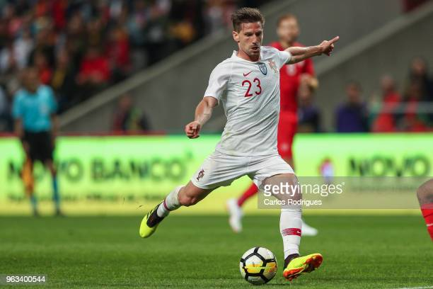 Portugal and Leicester City FC midfielder Adrien Silva during the Portugal vs Tunisia International Friendly match on May 28 2018 in Braga Portugal