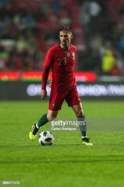 Portugal and Leicester City FC midfielder Adrien Silva during Portugal vs Algeria International Friendly match at Estadio da Luz on June 7 2018 in...