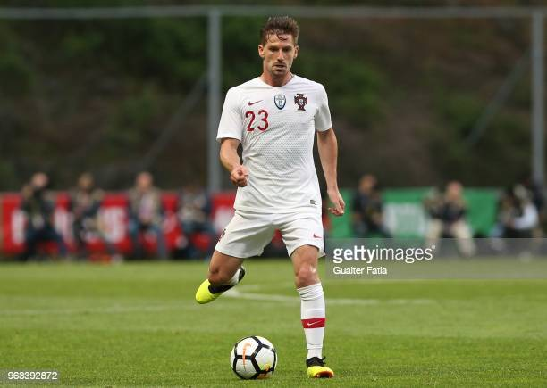 Portugal and Leicester City FC midfielder Adrien Silva in action during the International Friendly match between Portugal and Tunisia at Estadio...