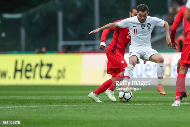 Portugal and Manchester City midfielder Bernardo Silva during the Portugal vs Tunisia International Friendly match on May 28 2018 in Braga Portugal