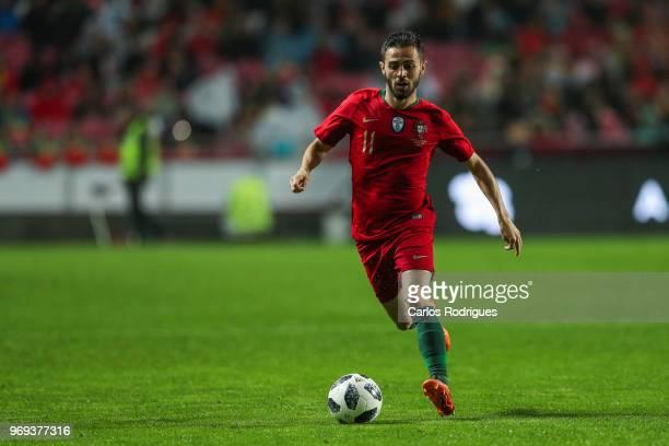 Portugal and Manchester City midfielder Bernardo Silva during Portugal vs Algeria International Friendly match at Estadio da Luz on June 7 2018 in...