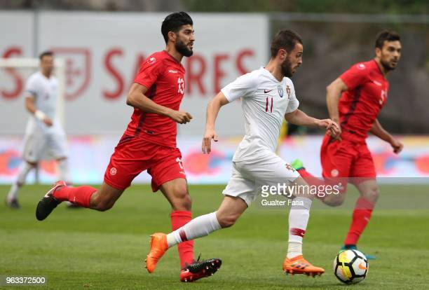 Portugal and Manchester City midfielder Bernardo Silva in action during the International Friendly match between Portugal and Tunisia at Estadio...