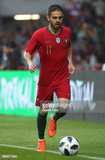 Portugal and Manchester City midfielder Bernardo Silva in action during the International Friendly match between Portugal and Algeria at Estadio da...