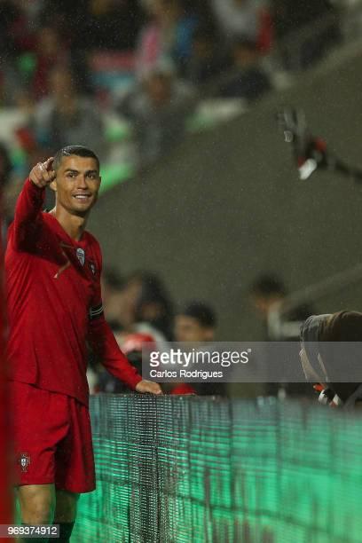 Portugal and Real Madrid forward Cristiano Ronaldo during Portugal vs Algeria International Friendly match at Estadio da Luz on June 7 2018 in Lisbon...