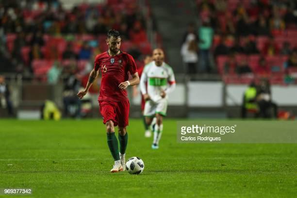 Portugal and Sporting CP midfielder Bruno Fernandes during Portugal vs Algeria International Friendly match at Estadio da Luz on June 7 2018 in...