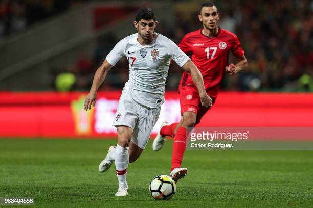 Portugal and Valencia FC forward Goncalo Guedes during the Portugal vs Tunisia International Friendly match on May 28 2018 in Braga Portugal